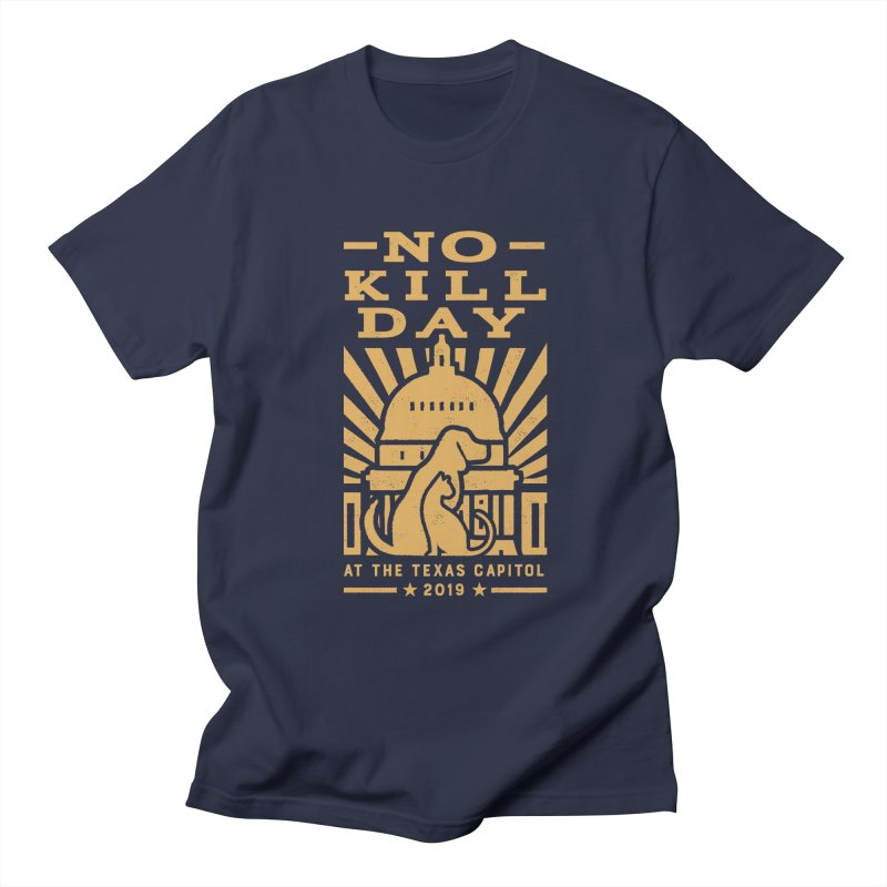 Texas No Kill Day 2019 Men's T - Navy Men's Regular T-Shirt by Texas Pets Alive