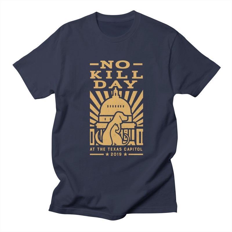 Texas No Kill Day 2019 Women's T - Navy in Women's Regular Unisex T-Shirt Navy by Texas Pets Alive