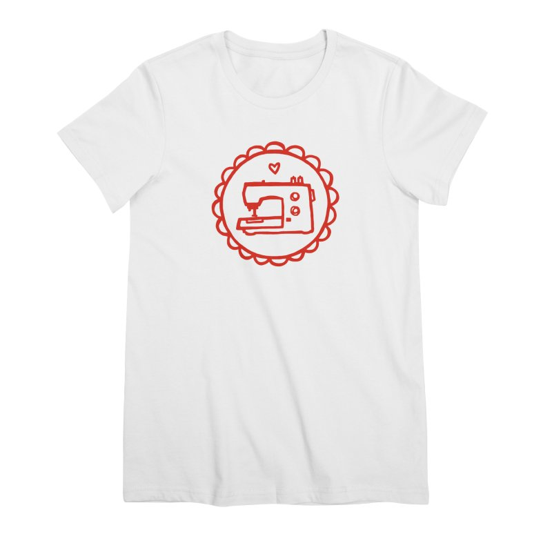 Red Textillia Logo Women's T-Shirt by Textillia Shirt Shop
