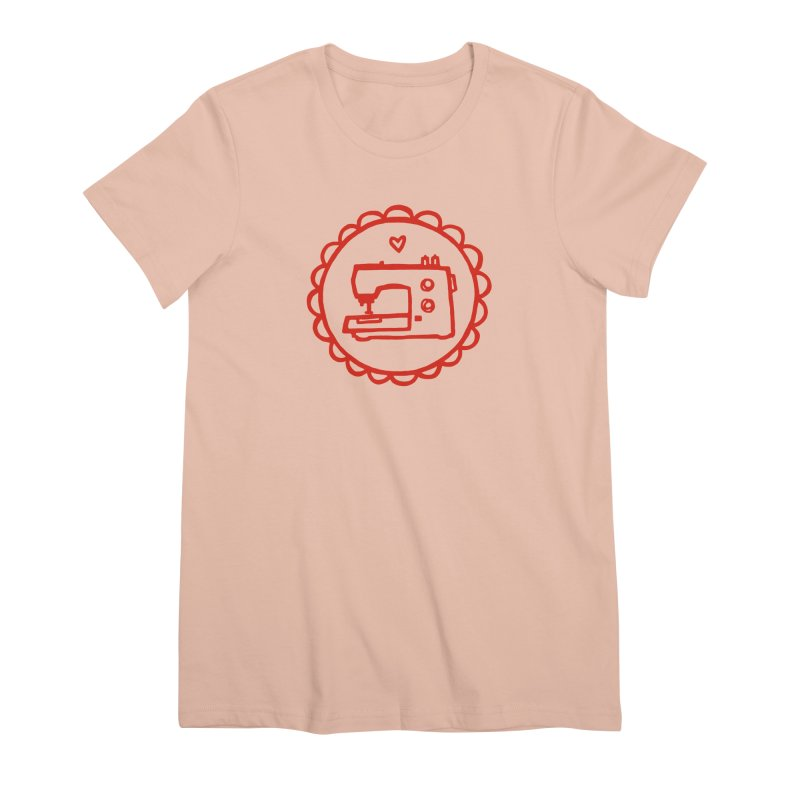 Red Textillia Logo Women's Premium T-Shirt by Textillia Shirt Shop