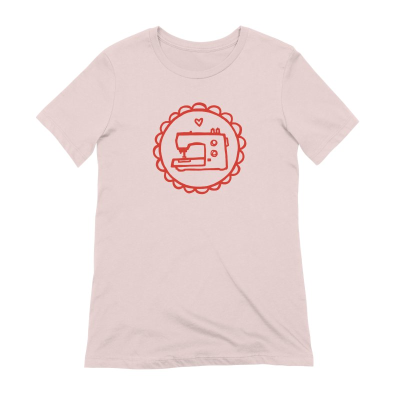 Red Textillia Logo Women's Extra Soft T-Shirt by Textillia Shirt Shop