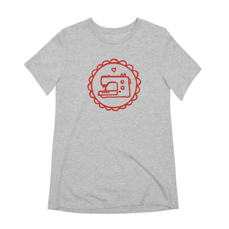 Red Textillia Logo Women's Extra Soft T-Shirt by Textillia Shirt Shop