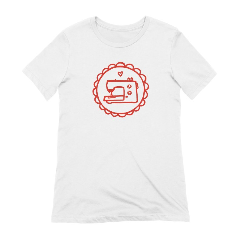 Red Textillia Logo Women's T-Shirt by Textillia Shirt Shop
