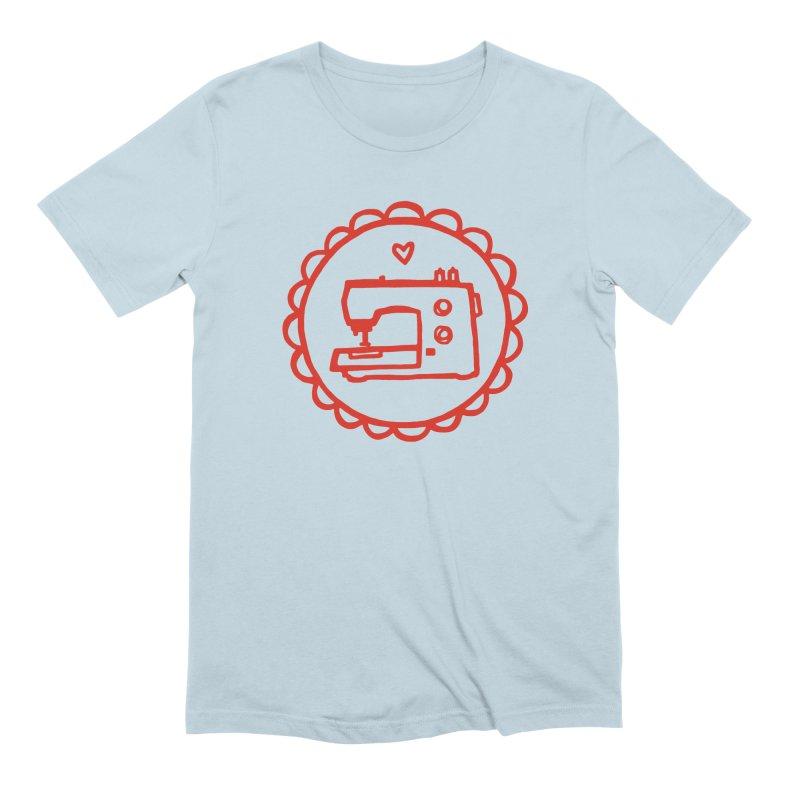 Red Textillia Logo Men's Extra Soft T-Shirt by Textillia Shirt Shop