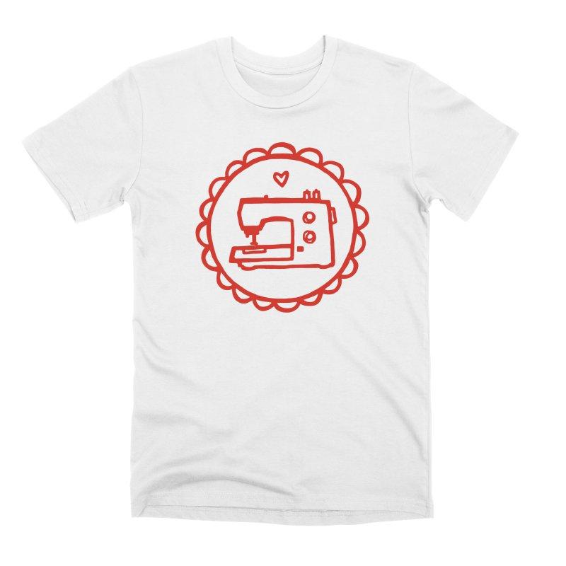 Red Textillia Logo Men's Premium T-Shirt by Textillia Shirt Shop