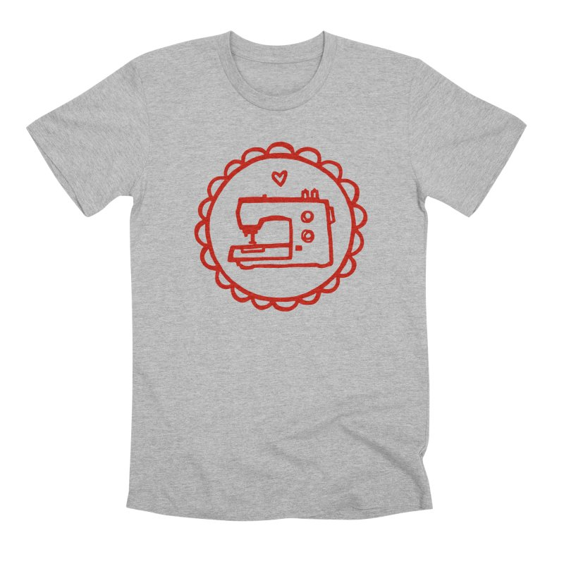 Red Textillia Logo Men's Premium T-Shirt by Textillia Shirt Shop