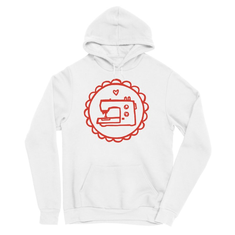 Red Textillia Logo Women's Sponge Fleece Pullover Hoody by Textillia Shirt Shop