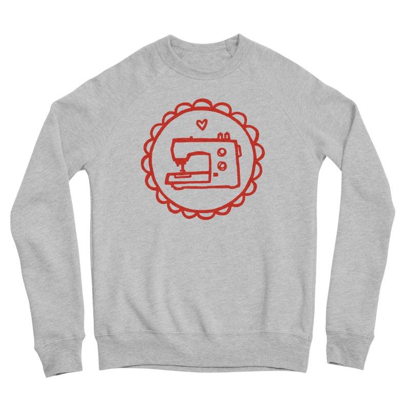 Red Textillia Logo Women's Sponge Fleece Sweatshirt by Textillia Shirt Shop