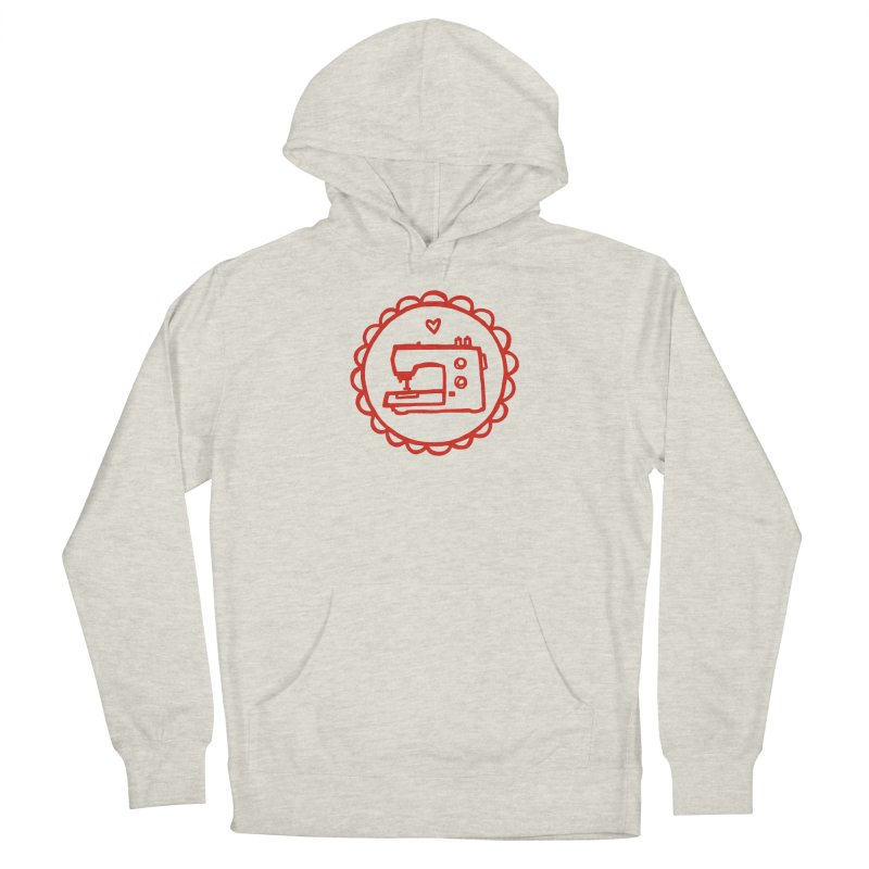 Red Textillia Logo Women's French Terry Pullover Hoody by Textillia Shirt Shop