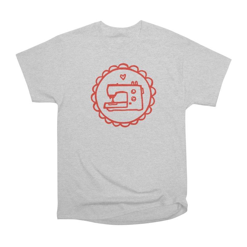 Red Textillia Logo Women's Heavyweight Unisex T-Shirt by Textillia Shirt Shop