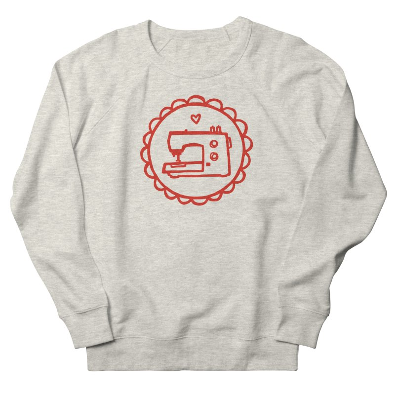 Red Textillia Logo Women's French Terry Sweatshirt by Textillia Shirt Shop