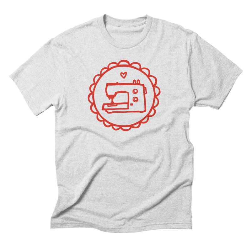 Red Textillia Logo Men's T-Shirt by Textillia Shirt Shop