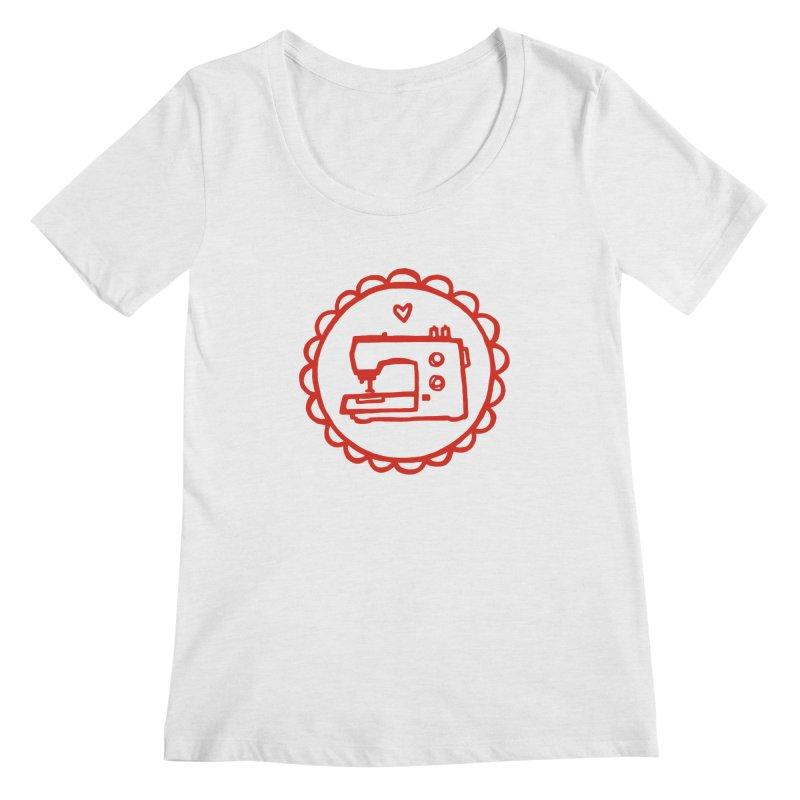Red Textillia Logo Women's Scoop Neck by Textillia Shirt Shop