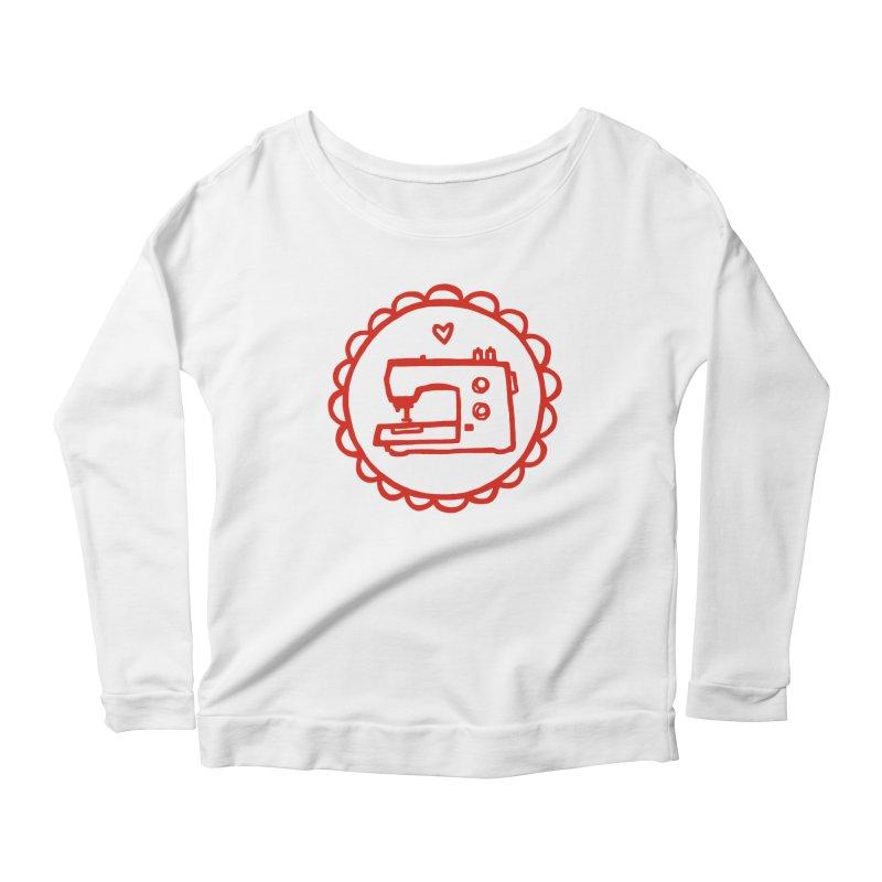 Red Textillia Logo Women's Scoop Neck Longsleeve T-Shirt by Textillia Shirt Shop