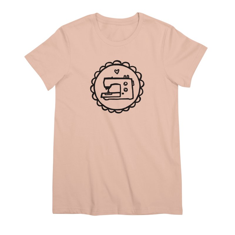 Black Textillia Logo in Women's Premium T-Shirt Pale Pink by Textillia Shirt Shop