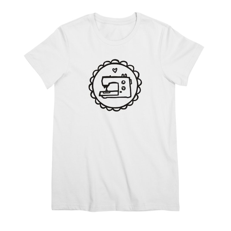 Black Textillia Logo Women's T-Shirt by Textillia Shirt Shop
