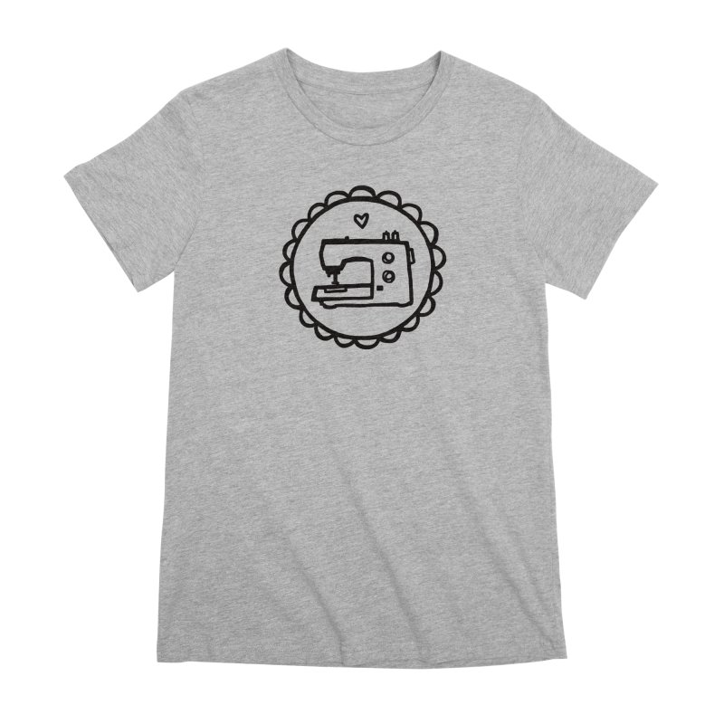 Black Textillia Logo Women's Premium T-Shirt by Textillia Shirt Shop