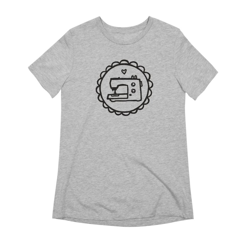 Black Textillia Logo Women's Extra Soft T-Shirt by Textillia Shirt Shop