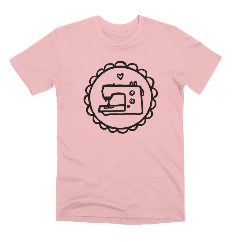 Black Textillia Logo Men's Premium T-Shirt by Textillia Shirt Shop