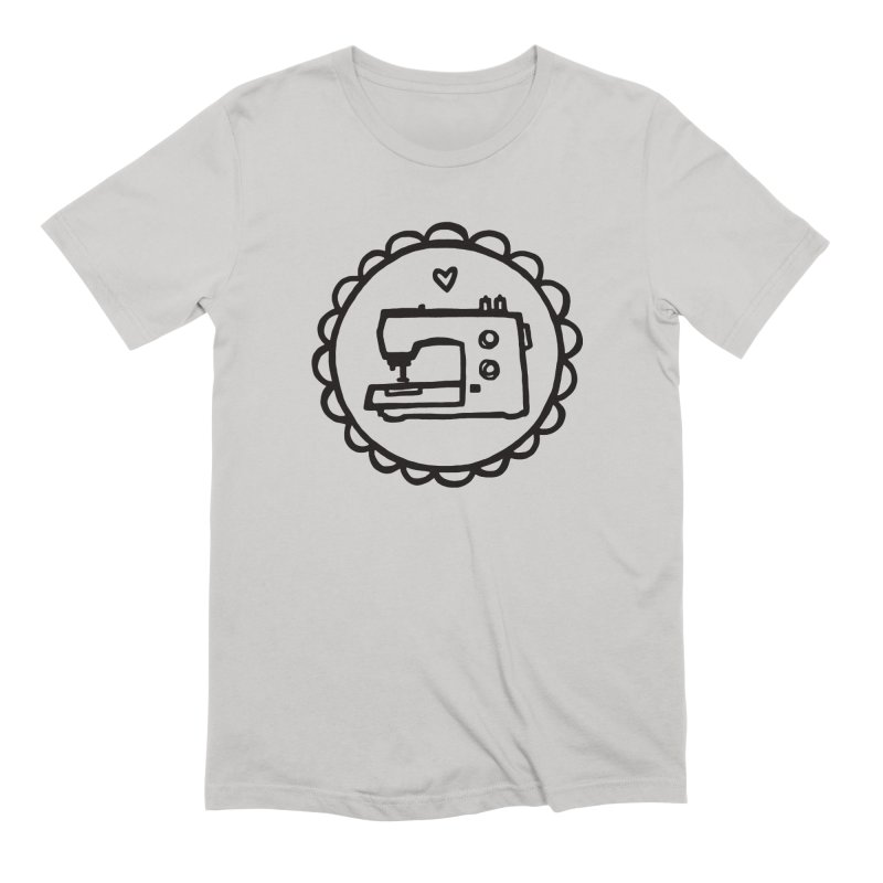 Black Textillia Logo Men's Extra Soft T-Shirt by Textillia Shirt Shop