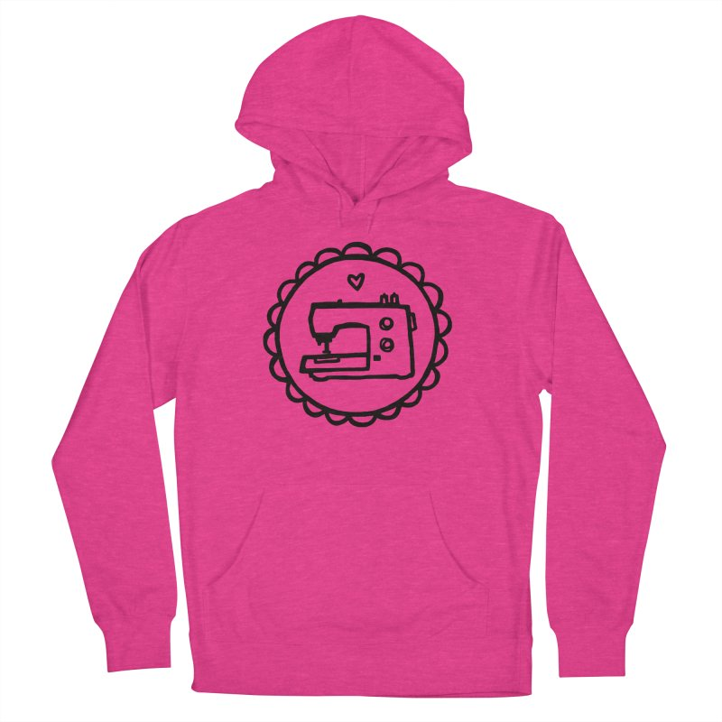 Black Textillia Logo Women's Pullover Hoody by Textillia Shirt Shop