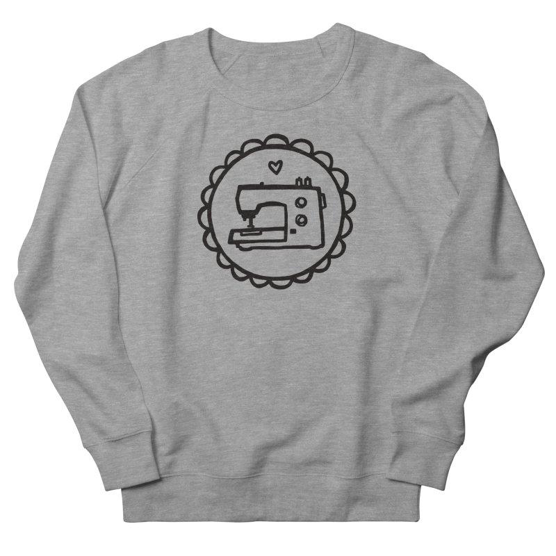 Black Textillia Logo Women's Sweatshirt by Textillia Shirt Shop