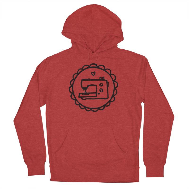 Black Textillia Logo Men's French Terry Pullover Hoody by Textillia Shirt Shop