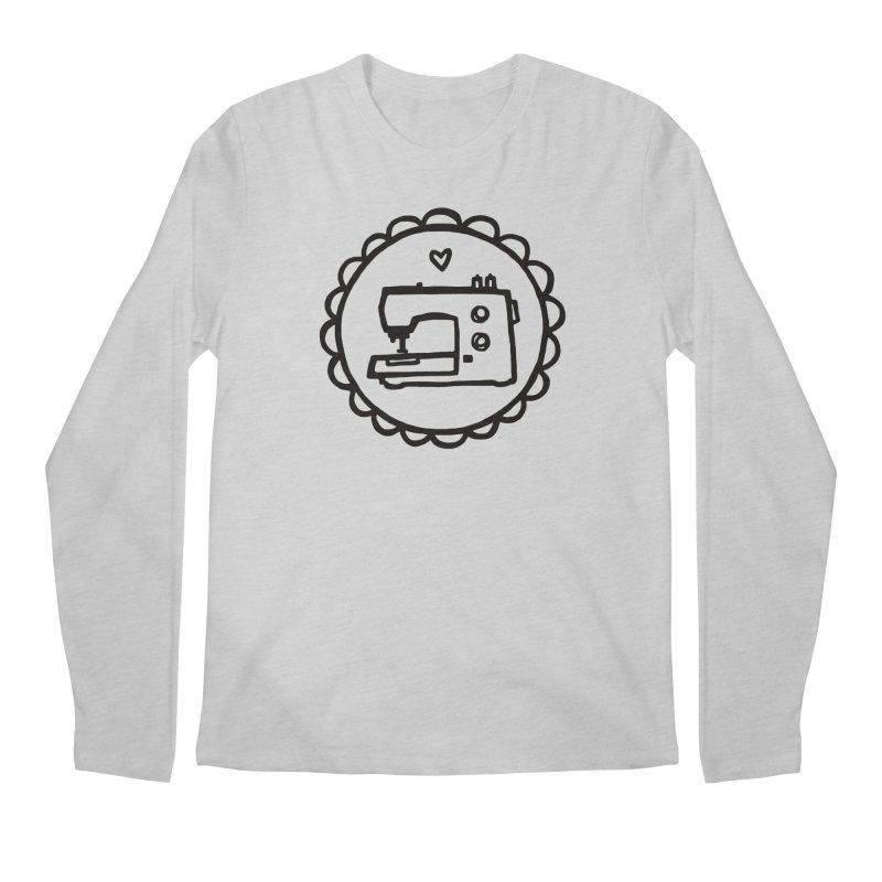 Black Textillia Logo Men's Regular Longsleeve T-Shirt by Textillia Shirt Shop