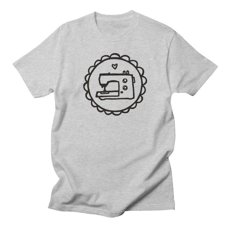 Black Textillia Logo Women's Regular Unisex T-Shirt by Textillia Shirt Shop