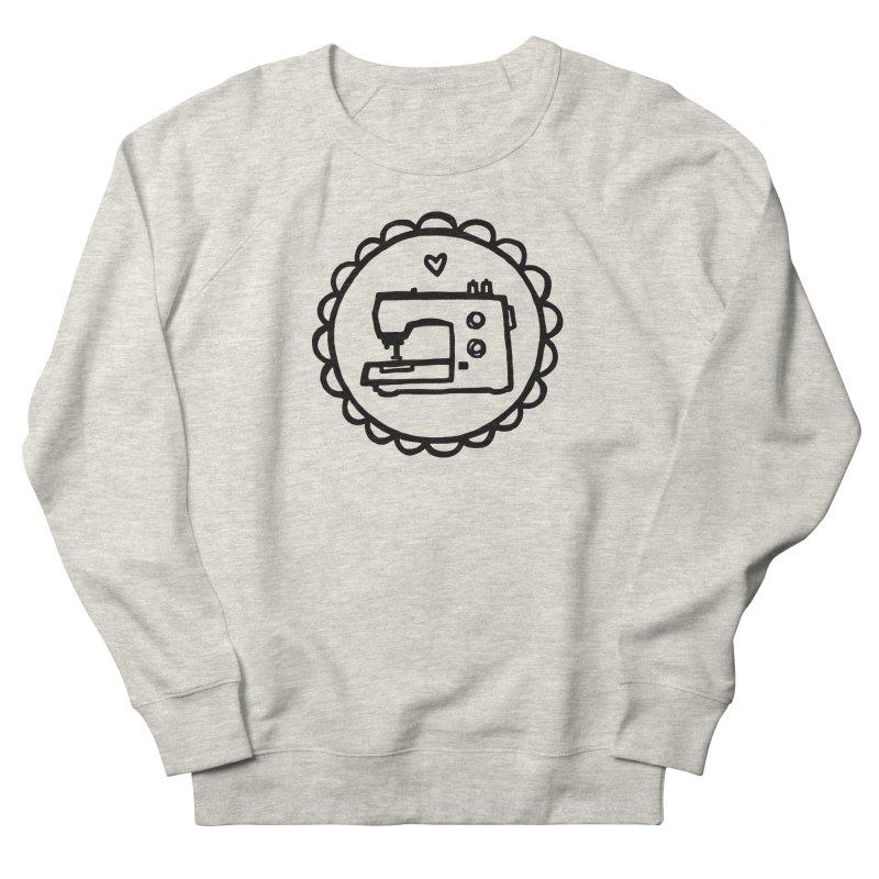 Black Textillia Logo Women's French Terry Sweatshirt by Textillia Shirt Shop