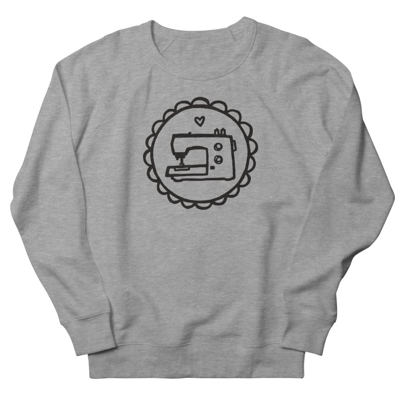 Black Textillia Logo Men's French Terry Sweatshirt by Textillia Shirt Shop