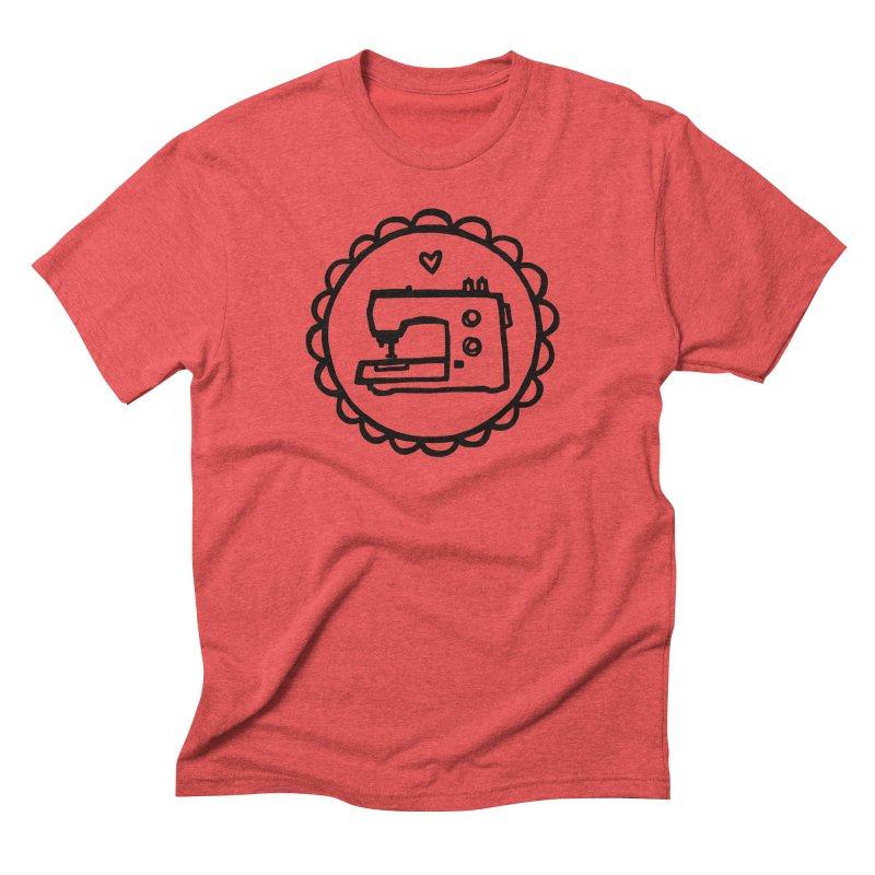 Black Textillia Logo Men's Triblend T-Shirt by Textillia Shirt Shop