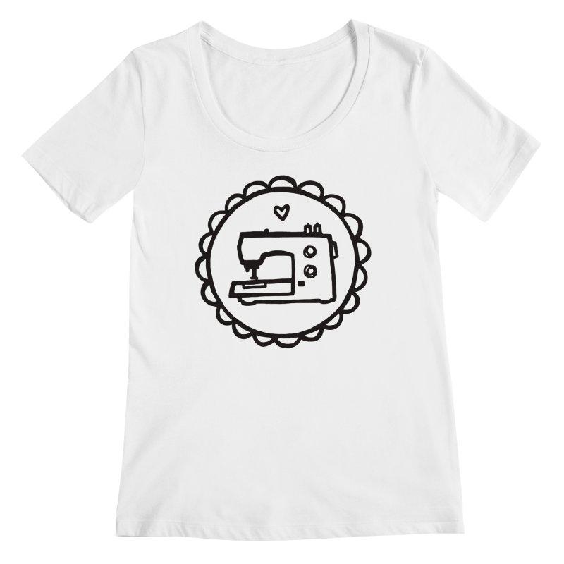 Black Textillia Logo Women's Regular Scoop Neck by Textillia Shirt Shop
