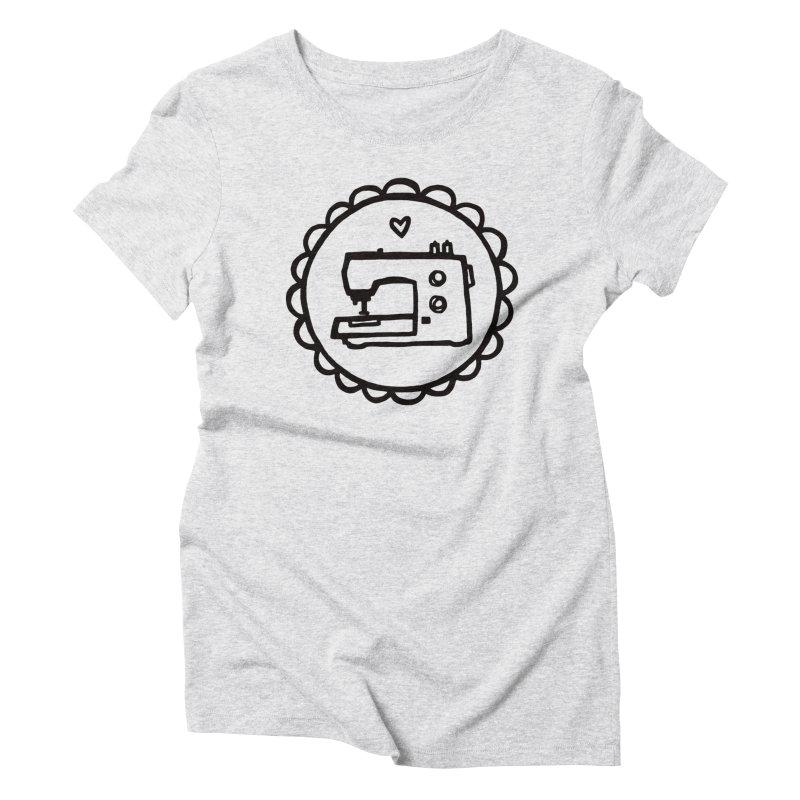 Black Textillia Logo Women's T-Shirt by Textillia Shirt Shop