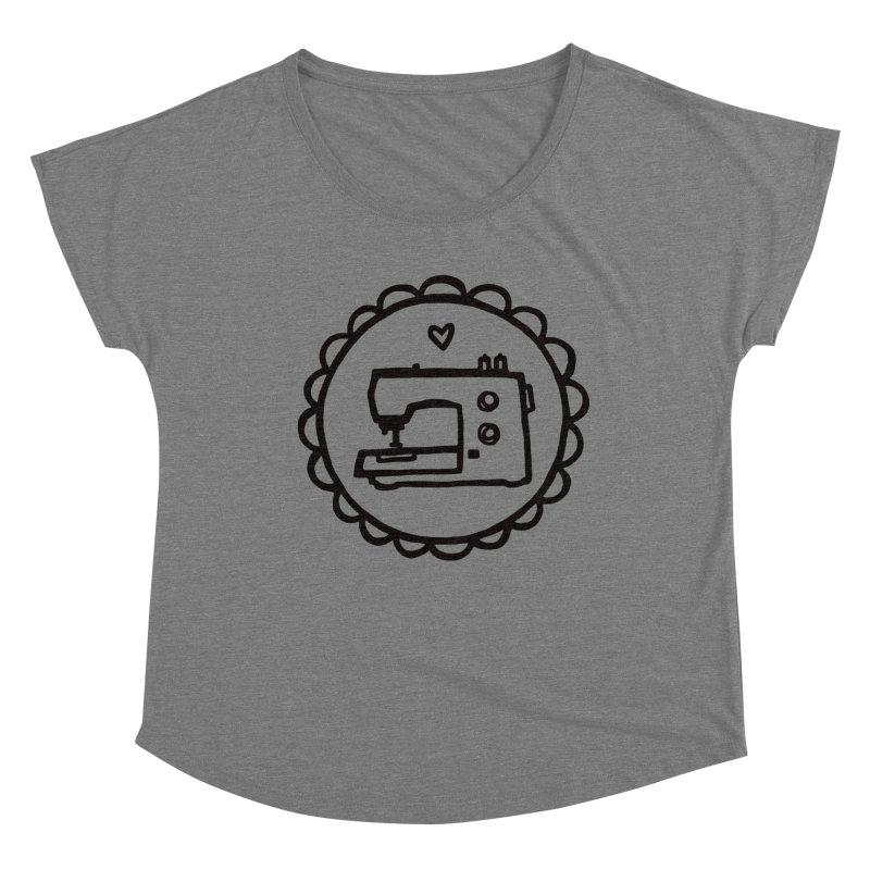 Black Textillia Logo Women's Dolman Scoop Neck by Textillia Shirt Shop