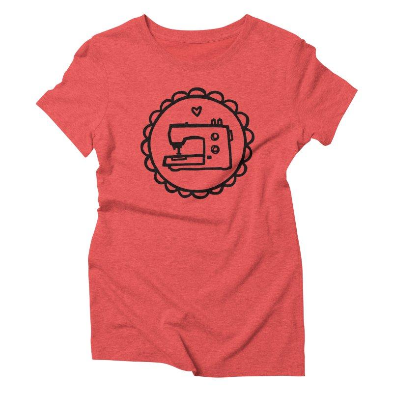 Black Textillia Logo Women's Triblend T-Shirt by Textillia Shirt Shop