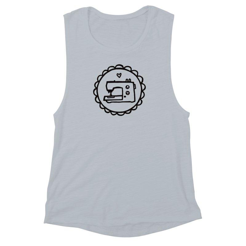 Black Textillia Logo Women's Muscle Tank by Textillia Shirt Shop