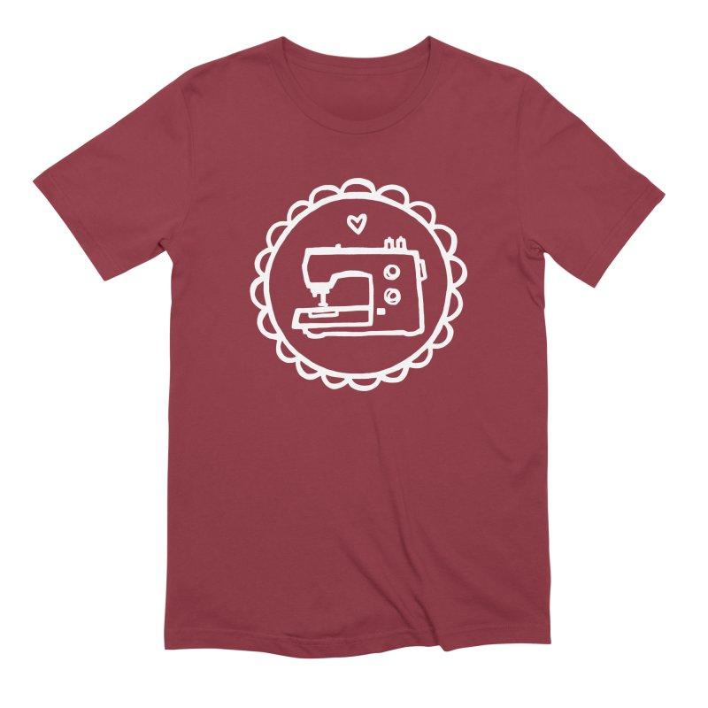 White Textillia Logo Men's Extra Soft T-Shirt by Textillia Shirt Shop