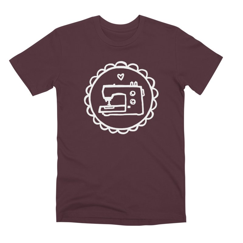 White Textillia Logo Men's Premium T-Shirt by Textillia Shirt Shop