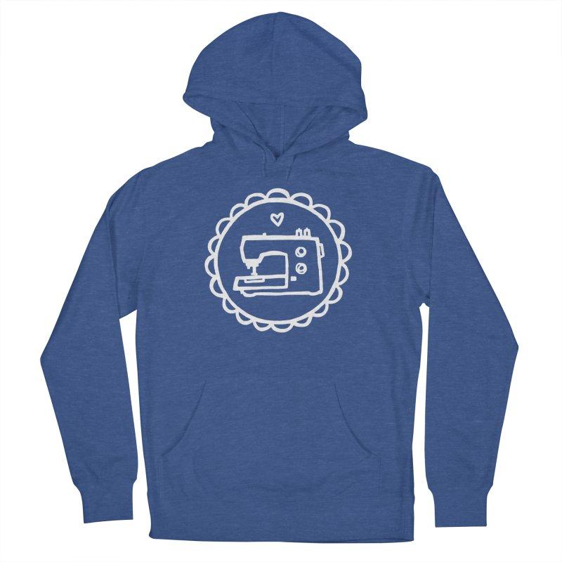 White Textillia Logo Men's French Terry Pullover Hoody by Textillia Shirt Shop