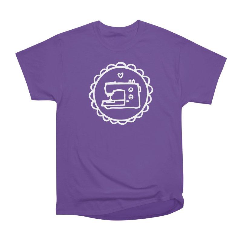 White Textillia Logo Women's Heavyweight Unisex T-Shirt by Textillia Shirt Shop