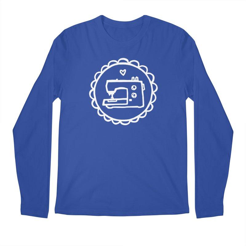 White Textillia Logo Men's Regular Longsleeve T-Shirt by Textillia Shirt Shop