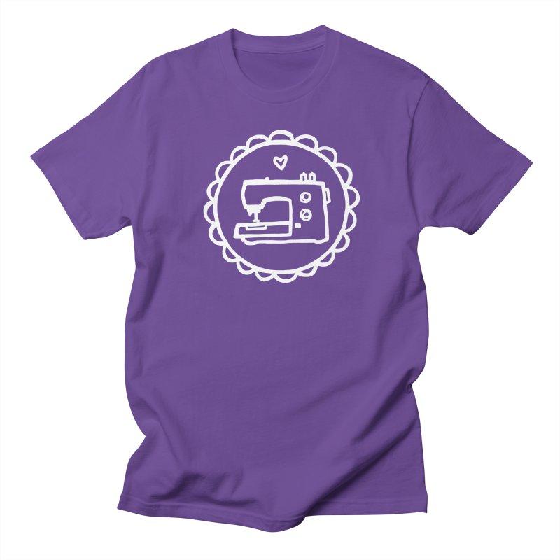 White Textillia Logo Men's Regular T-Shirt by Textillia Shirt Shop