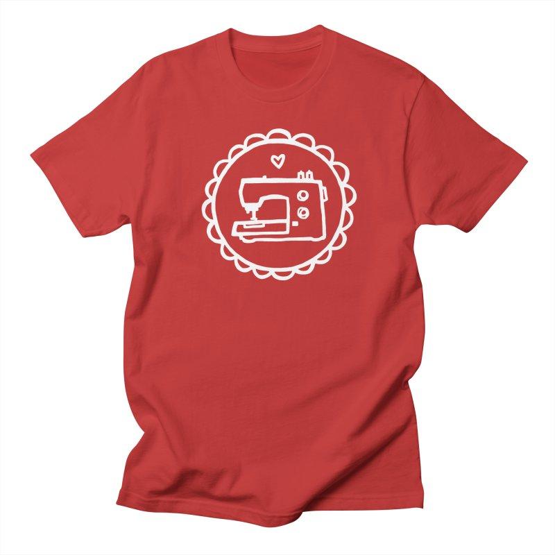 White Textillia Logo Women's Regular Unisex T-Shirt by Textillia Shirt Shop