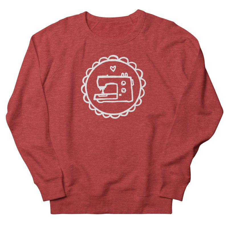 White Textillia Logo Women's French Terry Sweatshirt by Textillia Shirt Shop