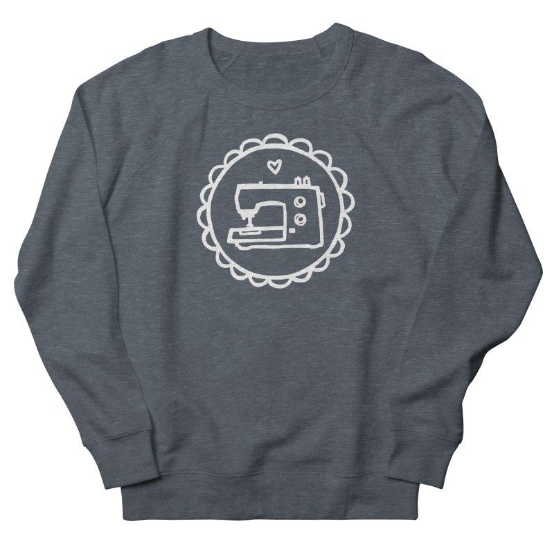 White Textillia Logo Men's French Terry Sweatshirt by Textillia Shirt Shop