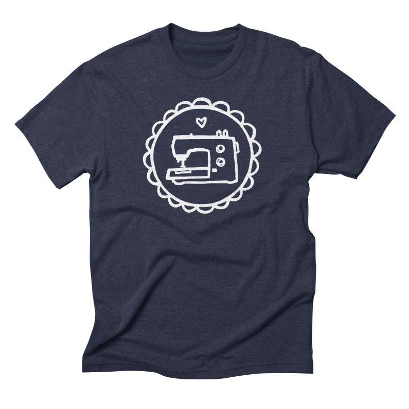 White Textillia Logo Men's Triblend T-Shirt by Textillia Shirt Shop