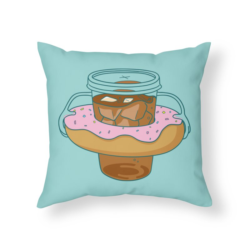 donutube Home Throw Pillow by tface's Artist Shop