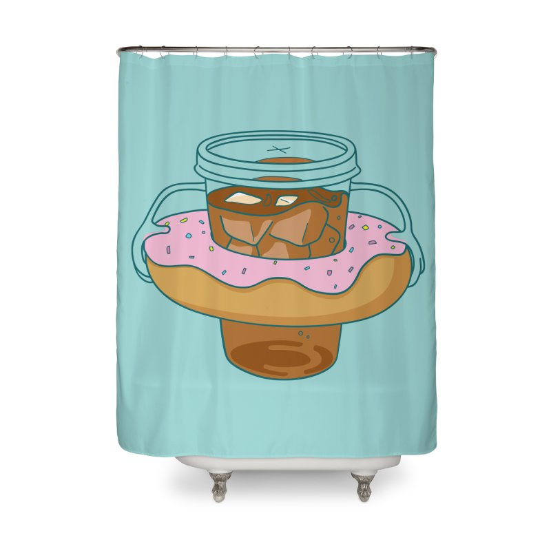 donutube Home Shower Curtain by tface's Artist Shop