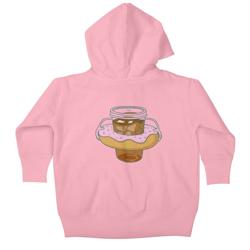 donutube Kids Baby Zip-Up Hoody by tface's Artist Shop